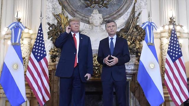 """Trump destaca el """"trabajo fantástico"""" de Macri en Argentina"""