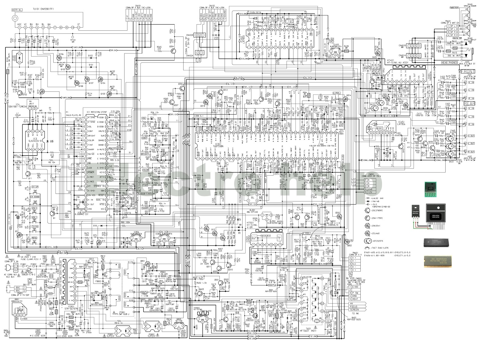 Aiwa Tv A219 A209 A149 Circuit Diagram Electro Help Stereo Wiring Harness Main Board