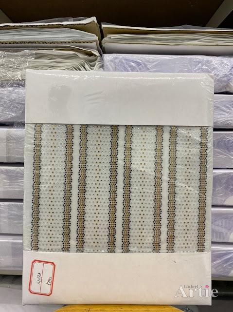 Hotfix stickers dmc rhinestone aplikasi tudung bawal fabrik pakaian 2 line tebal