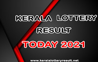 Kerala Lottery Result Today 2021