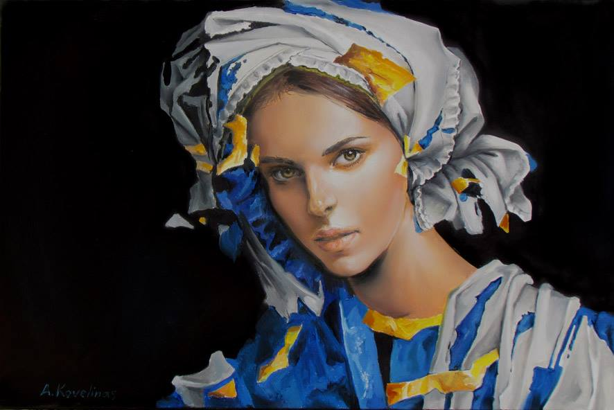 Andrius Kovelinas Portrait in blue
