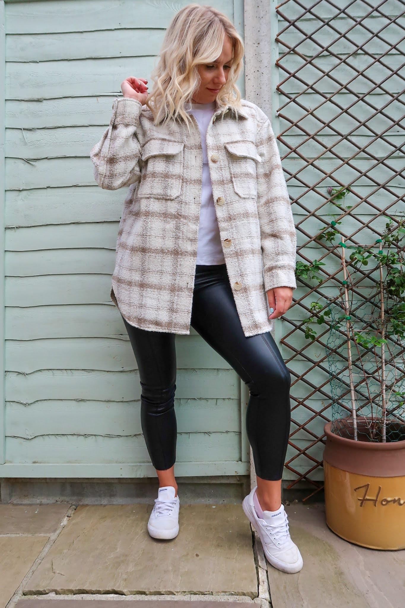 Rachel Emily Blog HM Shacket Topshop Leather Trousers Autumn key Trends