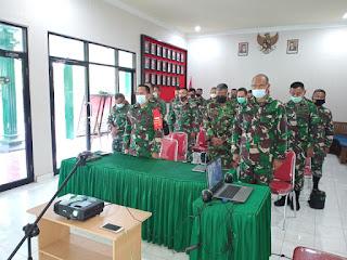 Dandim 1617 Jembrana hadiri Vidcon Perihal Sosialisasi Digitalisasi Pembayaran Dengan Sistem QRIS Di Lingkungan TNI Se-Bali