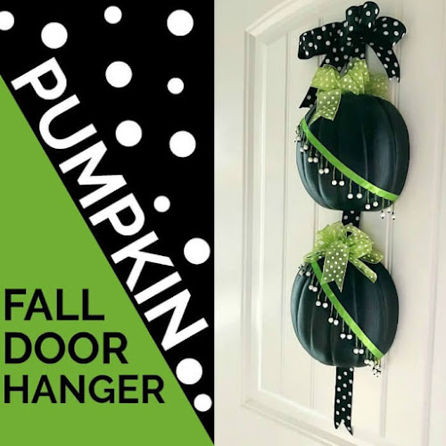 Untraditional Fall Pumpkin Door Hanger