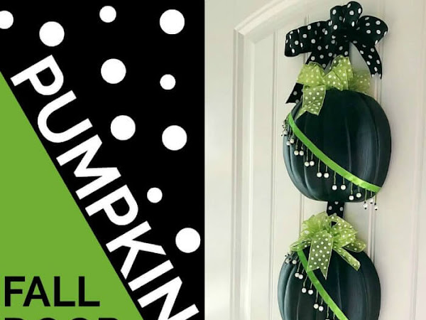 Untraditional Fall Pumpkin Door Hanger
