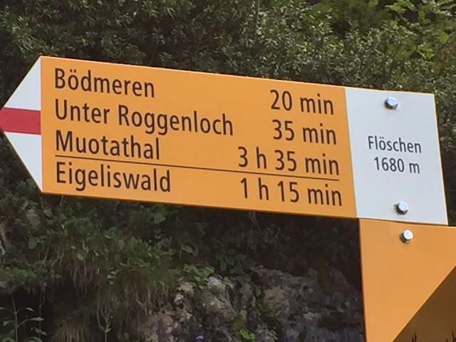 Wanderweg Schilder