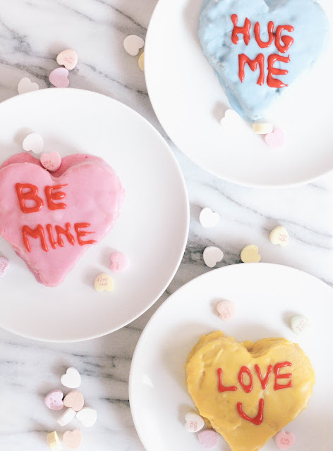 Mini Candy Heart Cakes Valentines Dairy-Free