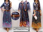 Gamis Denim Bunga + Belt SOLD OUT