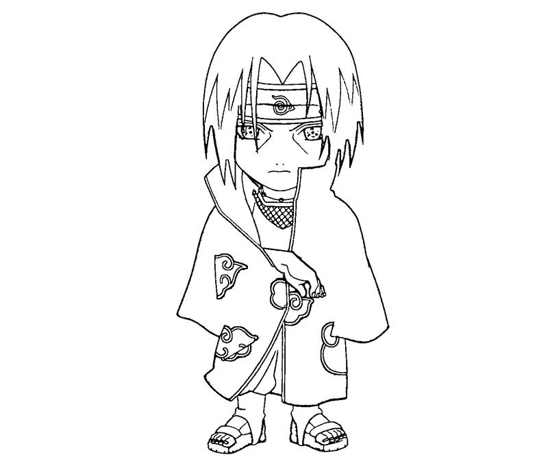Itachi Uchiha 9 Coloring Crafty Teenager