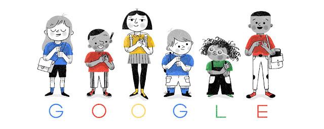 Doodle de Google dedicado a la lengua de signos británica el 6 de septiembre de 2017