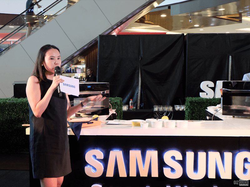 Product Marketing Head Steph Cua sharing the features of the smart oven