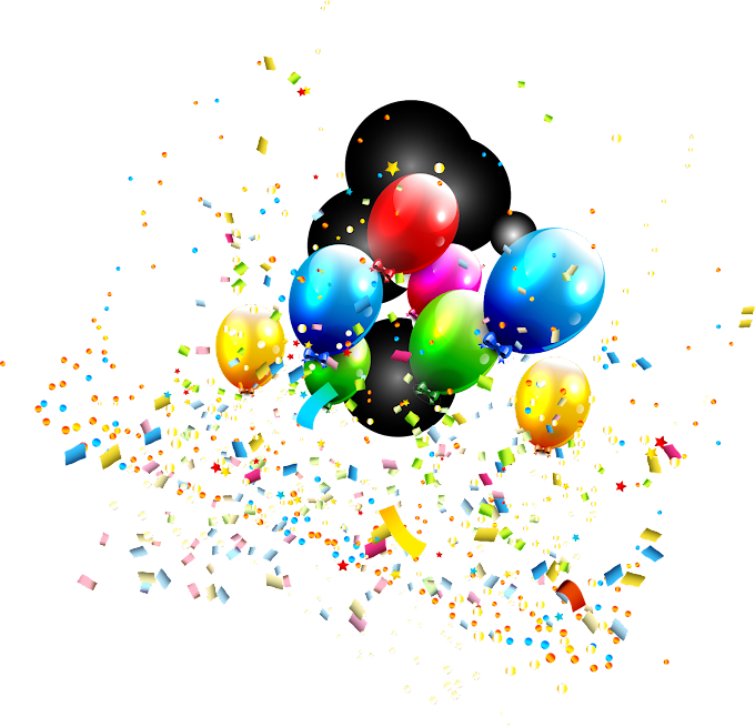 colorful dream balloon, ribbon, color splash png by: pngkh.com