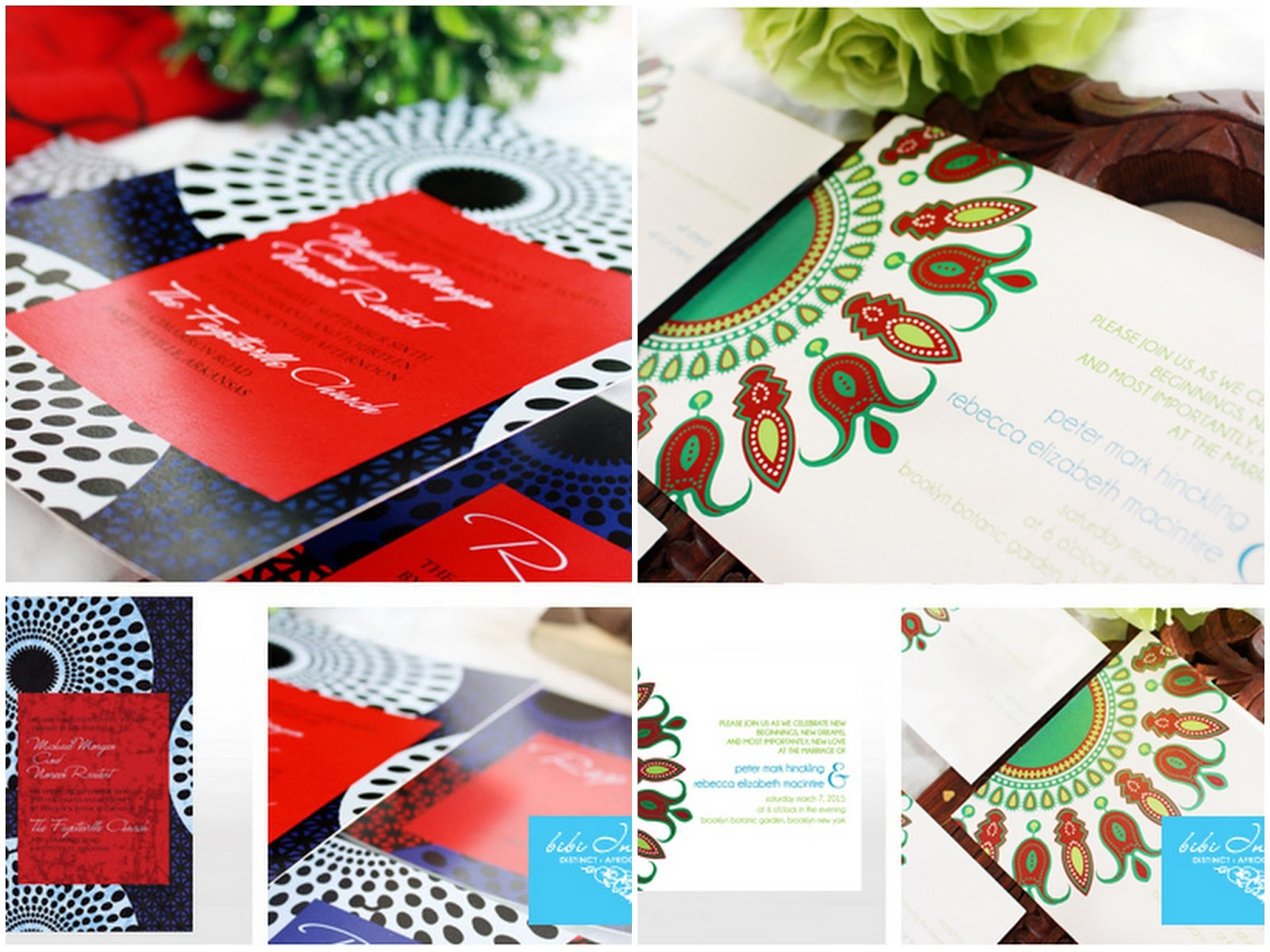 African themed Wedding Invitations: Bibi Invitations + Discount + ...