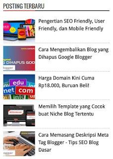 Posting Terbaru Plus Gambar Thumbnail Image