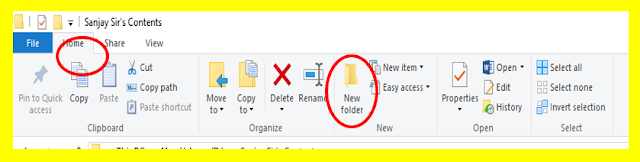 How to create New folder in windows 10
