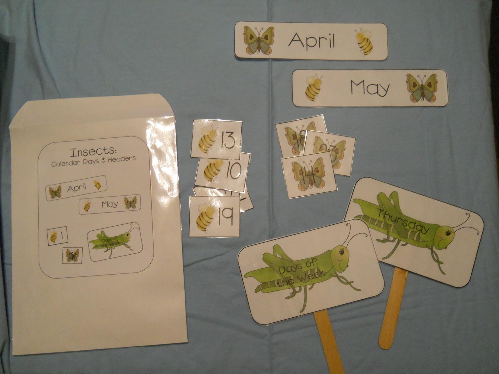 Mykenna S Preschool Printables Insect Theme Unit