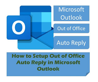 Setup Out of Office Auto Reply
