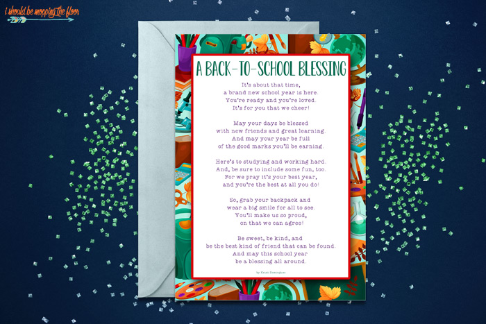 Back to School Blessing Greeting Card