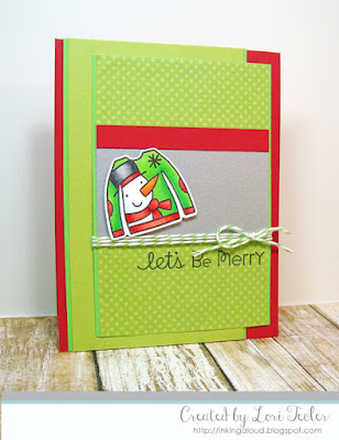 Let's Be Merry card-designed by Lori Tecler/Inking Aloud-stamps and dies from Paper Smooches
