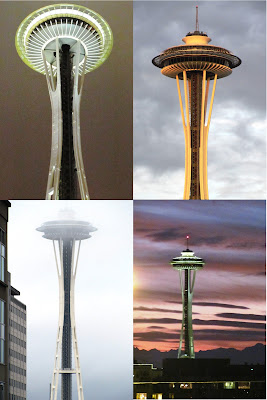 Views of the Seattle Space Needle during my Seattle getaway with my friend Joanna