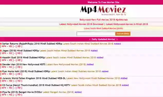 Mp4Moviez Website 2020 Download Bollywood, Hollywood, Tamil Movies