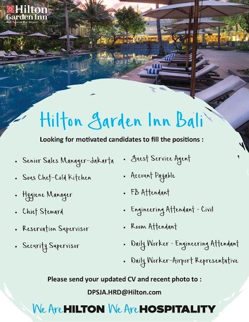 Lowongan kerja Hilton Garden Inn Bali 2019