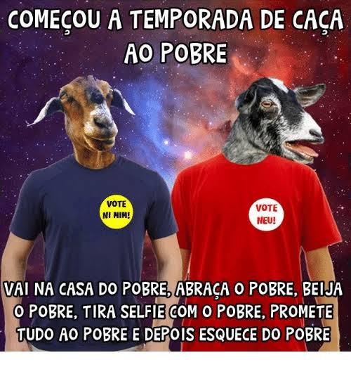 COMEÇOU A TEMPORADA DE CAÇA AOS POBRES