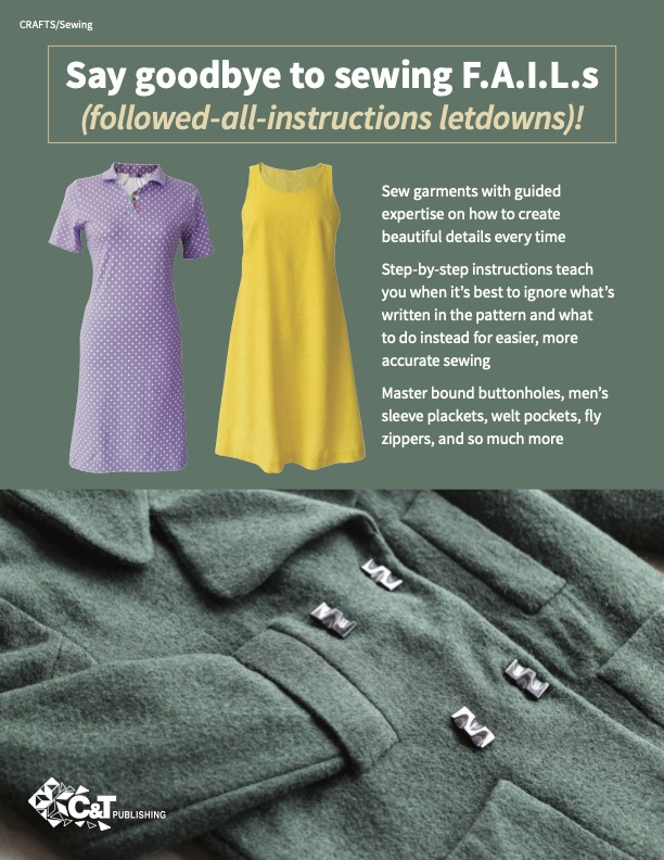 Sewing with less stress back cover