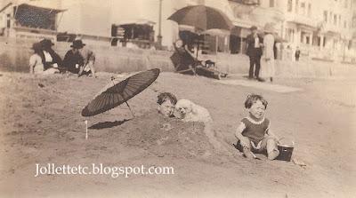 John Jr and Bob at the beach probably 1921 https://jollettetc.blogspot.com