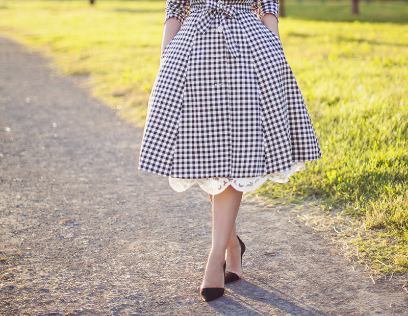 Bonprix gingham coat