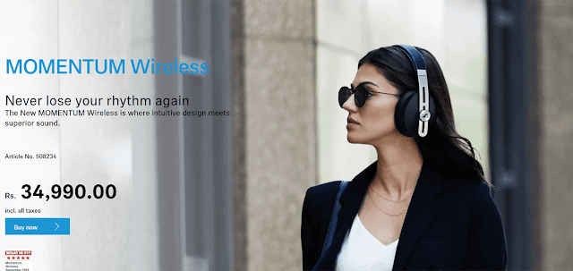 sennheiser momentum 3 wireless price