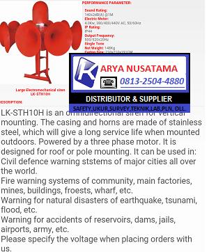 Hub. 081339893673 Jual Sirine Tsunami, Banjir, Gempa