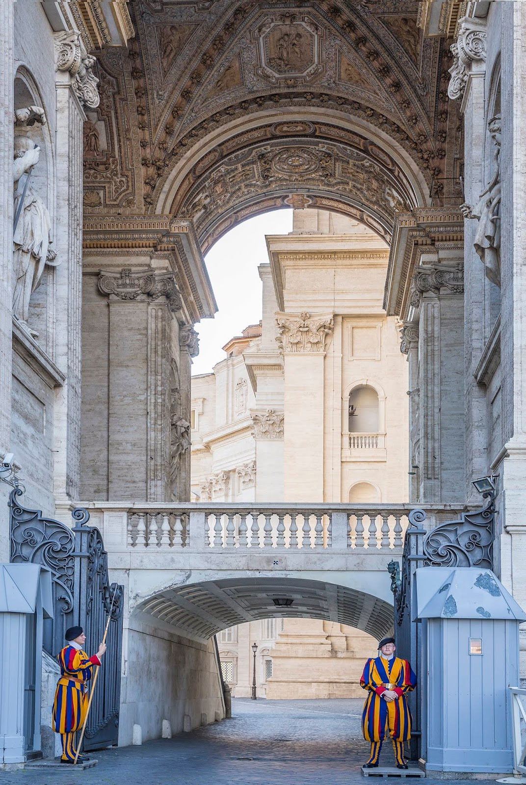 Rome, Italy by Posh, Broke, & Bored - Swiss Guards at St Peter's Basilica