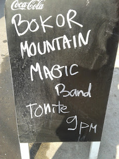 pic of sign for Bokor mountain magic band concert