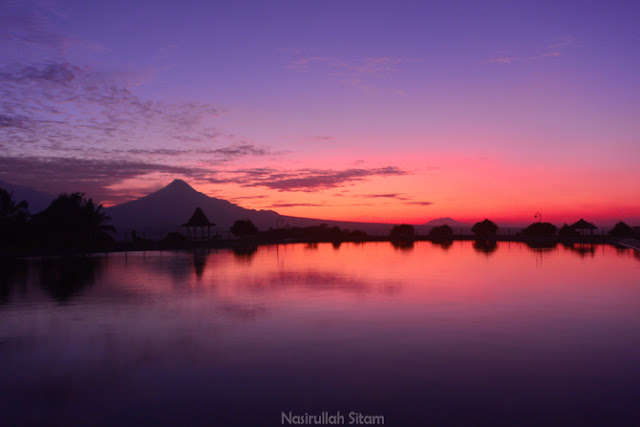 Ragam warna sebelum sunrise di Waduk Mini Banjaroya