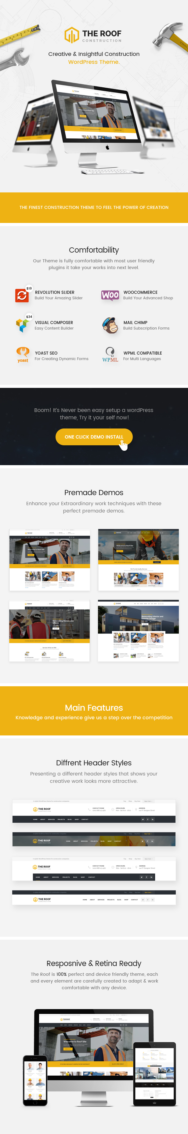 WP Construction, Building Business WordPress Theme Review - Roof
