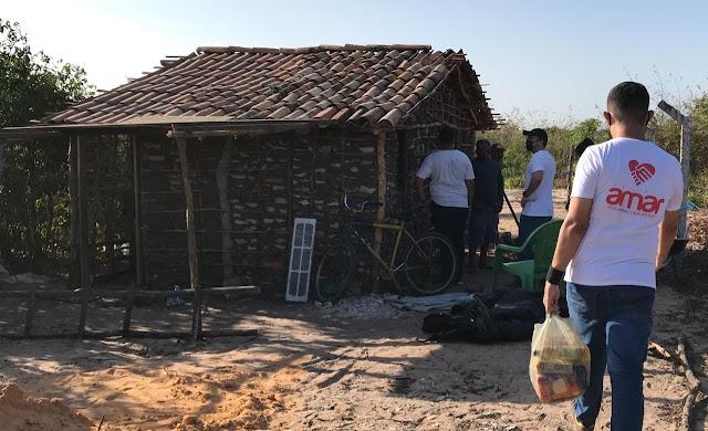 Projeto AMAR ajuda famílias em extrema pobreza na zona leste de Parnaíba.