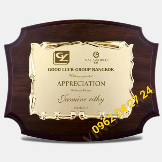 cơ sở bán biểu trưng gỗ đồng, địa chỉ sản xuất bằng khen nhân viên, bằng chứng nhận cao cấp - 260089
