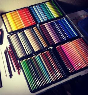 set complet de crayon de couleur prismacolor premier 150 couleurs