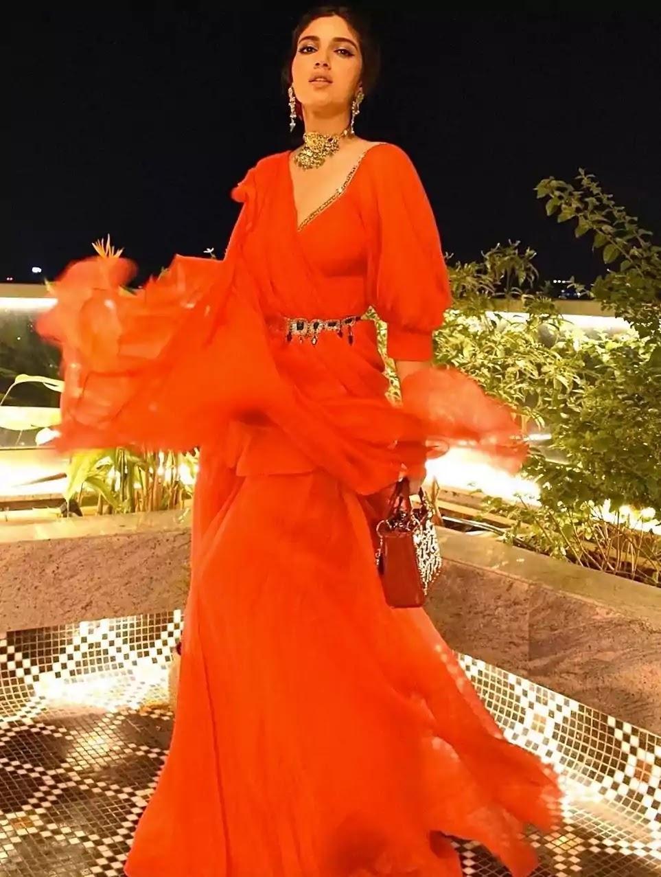 bhumi-pednekar-in-red-organza-jumpsuit
