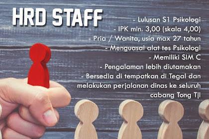 Info Lowongan Kerja Staff HRD Tong Tji Tegal