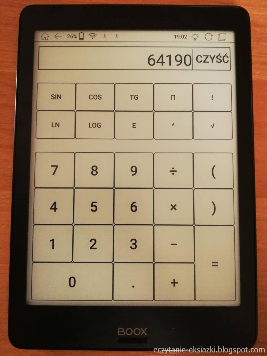 Kalkulator w Onyx Boox Nova