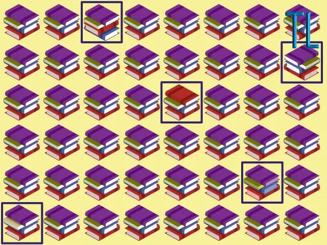 Ilustración con muchas pilas de libros de colores sobre un fondo amarillo