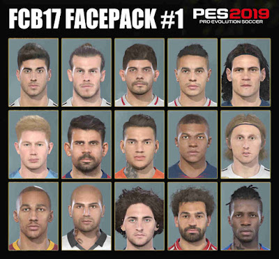 PES 2019 Facepack #1 from FIFA 19 by FCB17
