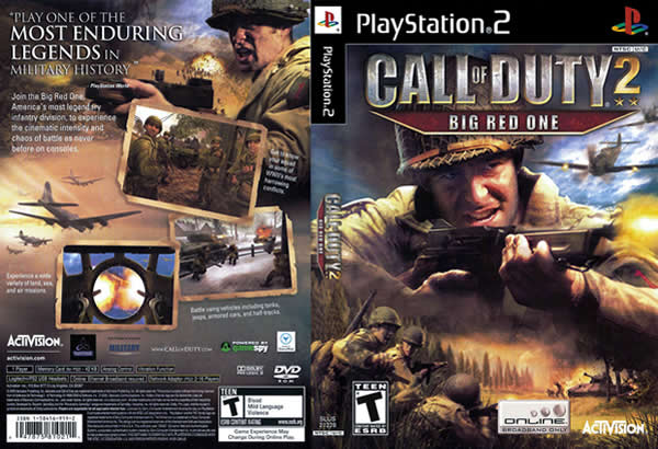 Descargar Call of Duty 2 - Big Red One para PlayStation 2 en formato ISO región NTSC y PAL en Español Multilenguaje Enlace directo sin torrent. Big Red One se diferencia de otros juegos de la saga Call of Duty en el que se centra en una única formación de los aliados en la guerra: La 1 ª División del Ejército de EE.UU. de Infantería, que va por el apodo de Big Red One gracias a su parche de unidad que cuenta con un gran uno rojo. El juego cubre una parte de la división en la invasión y liberación de África del Norte, la invasión a Sicilia, el desembarco en Omaha Beach en Europa y hacia el este, cruzando la Línea Sigfrido en Alemania.