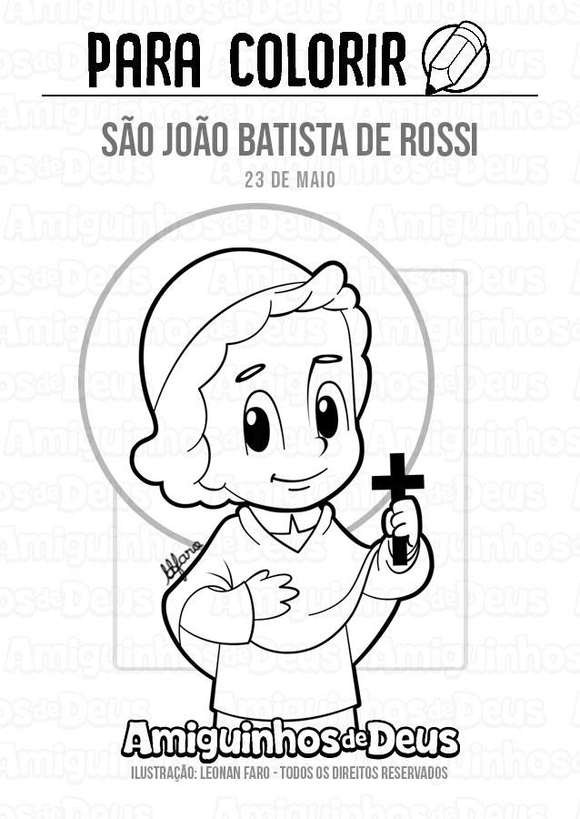 São João Batista de Rossi desenho para colorir