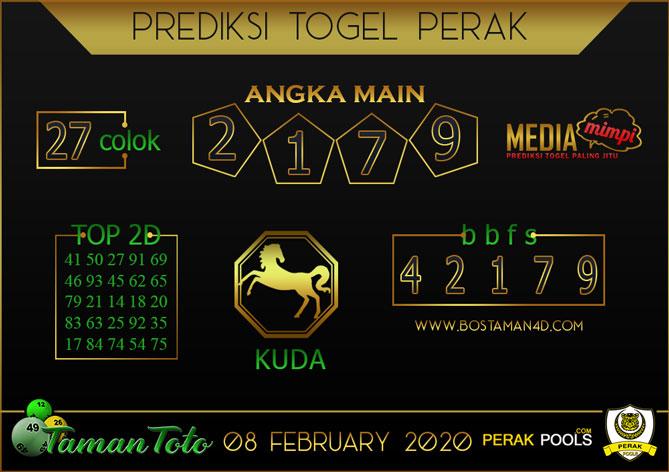 Prediksi Togel PERAK TAMAN TOTO 08 FEBRUARY 2020