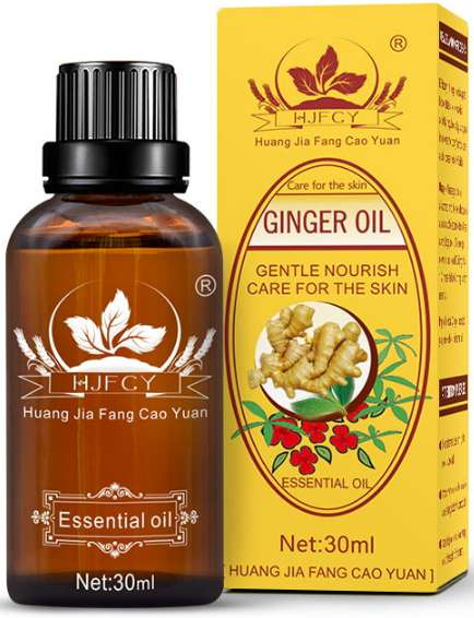 Ginger Oil Pure Natural Therapy Anti Aging Plant Essential Body Massage Ginger-Oil