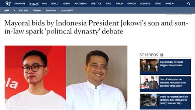 Media Asing Soroti Pencalonan Anak Menantu Jokowi: Politik Dinasti Mengakar di Indonesia