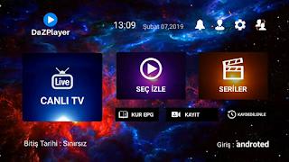 Android Telefondan Harika Bir Apk ile iptv izleme DaZPlayer